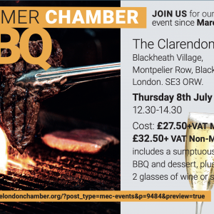 South East London Chamber of Commerce Summer Barbecue - 8 July - 12.30pm to 2.30pm