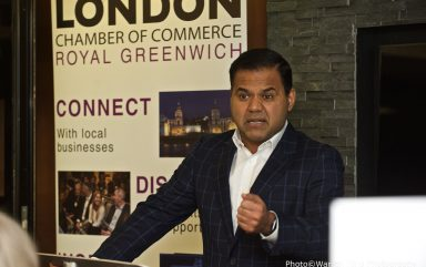 Executive Lunch with Rajesh Agrawal March 2020 at DoubleTree by Hilton London Greenwich